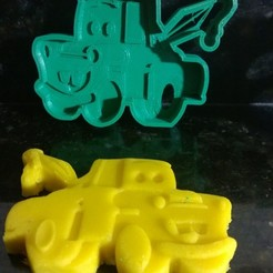 stl files mate cars cookie cutter fondant, catoiraf