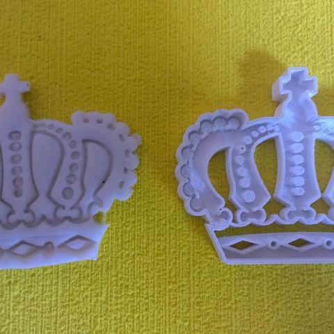 @catoiraf.jpg Download STL file cookie cutter crown, Corona cookie cutter • 3D printer model, catoiraf