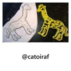 Imprimir en 3D cortador de galletas jirafa, giraffe cookie cutter, catoiraf