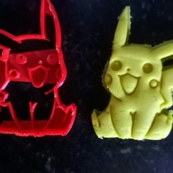 3d printer designs COOKIE CUTTER PIKACHU COOKIE CUTTER, catoiraf