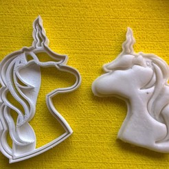 stl unicorn cookie cutter fondant, catoiraf