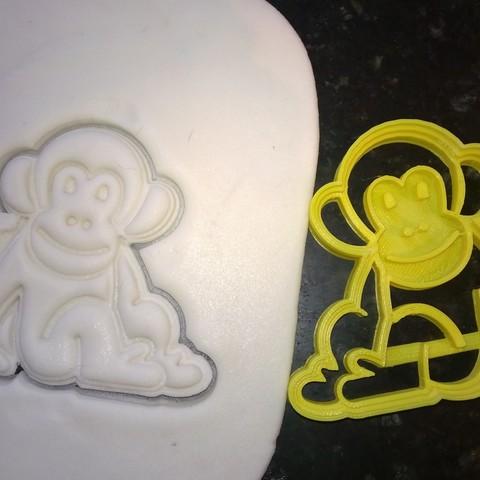 Diseños 3D cortador de galletas mono monkey  cookie cutter, catoiraf