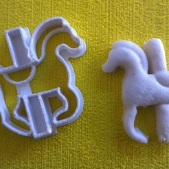 STL COOKIE CUTTER HORSE CARUCEL COOKIE CUTTER, catoiraf