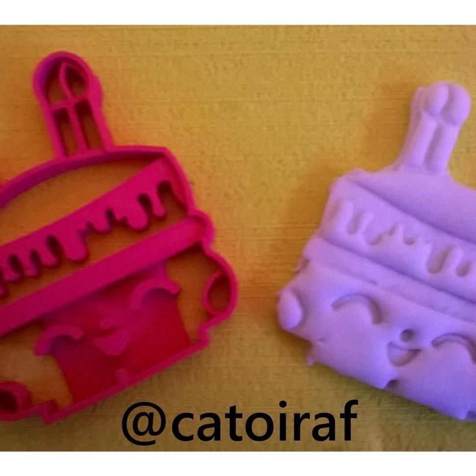 catoiraf.jpg Download STL file cookie cutter shopkins, cookie cutter • 3D print design, catoiraf