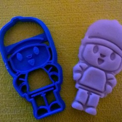 3d printer files cookie cutter and cookie cutter fondan pocoyo, catoiraf