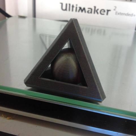 Download free STL file sphere libre dans un trierdre • 3D print object, nicobelix