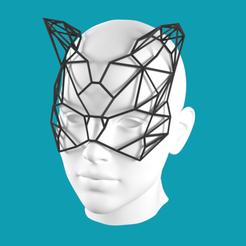 Download 3D model Lowpoly Cat Mask, Cow3D