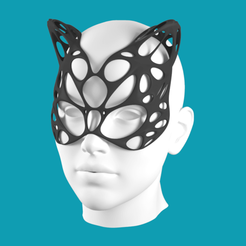 Download free 3D printing models Cat Mask V2, Cow3D