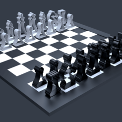 Download free STL SILHOUETTE CHESS PIECES, Cow3D