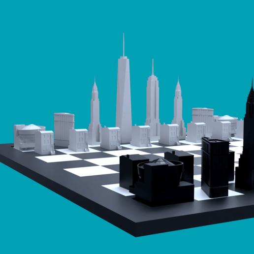 3D-printerontwerpen downloaden NYC CHESS PIECES, ApocalypseCow