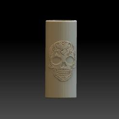 Download free STL file BIC lighter holder Skull rose • 3D printing design, angelique65