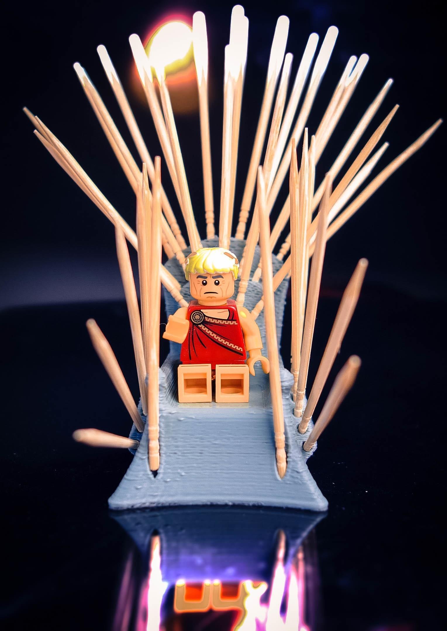 20180506-Netpicks1c.jpg Download STL file Wooden Throne • 3D printer object, ralphzoontjens