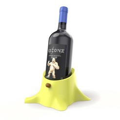 3D printer models Trunk Wine Bottle Holder, ralphzoontjens