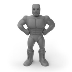 huracan1sq.jpg Download STL file Mexican Wrestler Hurricane Ramirez • 3D print model, ralphzoontjens