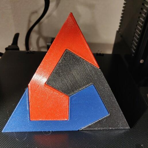 Download free STL file Pyramid in 3 parts - kawai tsugite • 3D printer model, Patator
