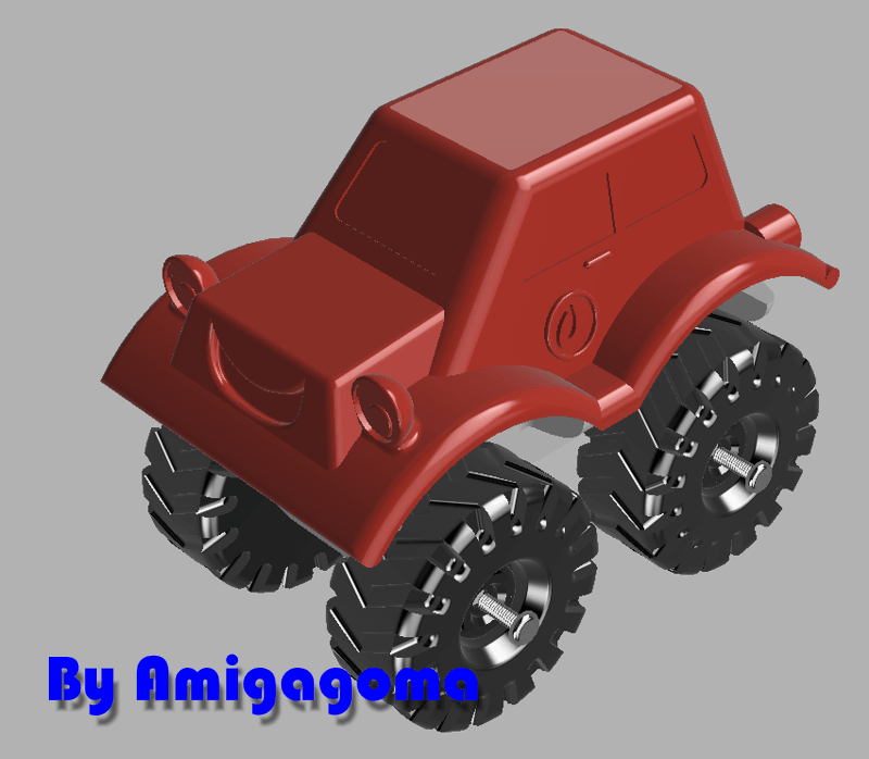 Sans nom-1.png Download STL file Monster fire truck • 3D printable model, amigapocket