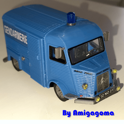 Download 3D printer model Tube Citroën type H Gendarmerie Version, amigapocket