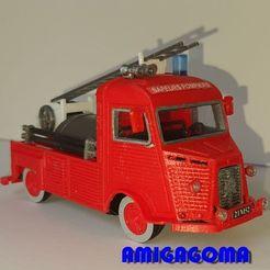Download STL Type H Citroën Citroën firefighter version with tanker platform, amigapocket