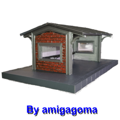 3D printer files A brick dock shelter, amigapocket