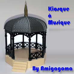 kiosque brut 2.png Download STL file Bandstand • 3D printer template, amigapocket