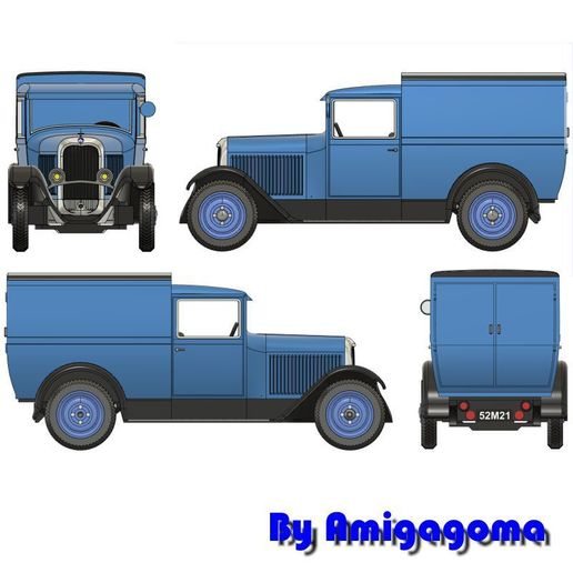 c4fourgon 3.jpg Download STL file Citroën C4 Fougon Tôlé • 3D printing object, amigapocket