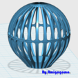 Download free STL file Christmas ball • 3D print design, amigapocket