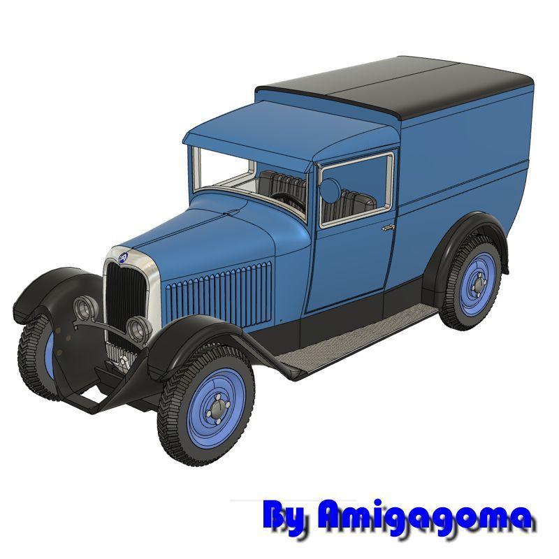 c4fourgonnette 2.jpg Download STL file Citroën C4 Fougon Tôlé • 3D printing object, amigapocket