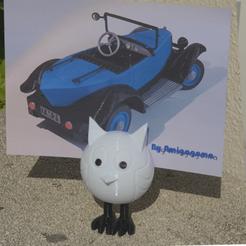 photo.png Télécharger fichier STL gratuit Chouette porte-photo • Modèle imprimable en 3D, amigapocket