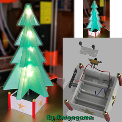 Free 3D print files Christmas tree illuminated decoration, amigapocket