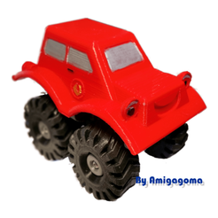 3D printer models Monster fire truck, amigapocket