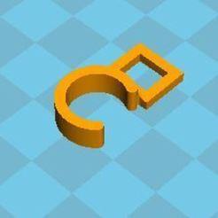 Imprimir en 3D gratis Gancho para anillo de cortina, Vpnico