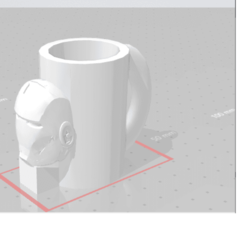 Download 3D printing templates ironman cup, Sergiostarks