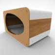 STL file Modern cat house, Joaco3D