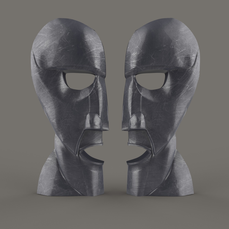 Division Bell Render.jpg Download STL file The Division Bell Statue   Pink Floyd • 3D printing design, Joaco3D