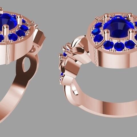 Flor 2.jpg Download STL file Flower Ring 2 • 3D printing object, JHMPlateria