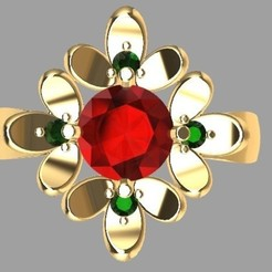 STL Flower ring 3, Paco182
