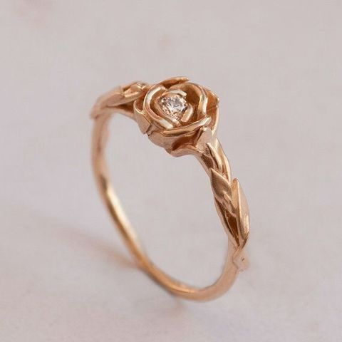 STL files Rose Flower Ring, Paco182