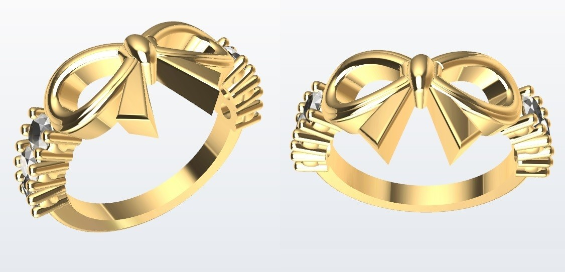Moño.jpg Download STL file Bow Ring • 3D printable design, JHMPlateria