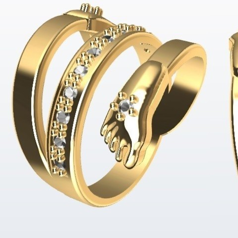 Download 3D printer designs Baby ring. Hand Foot, Paco182