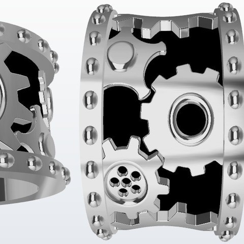 Free 3d printer designs Gear ring, Paco182