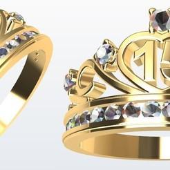 Modelos 3D para imprimir Corona 15 piedras enrieladas., Paco182