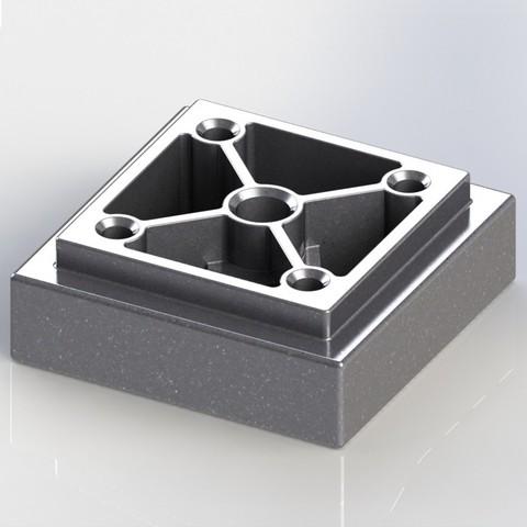 Download 3D printing models Furniture Feet 56x56x20, EGO