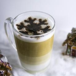 STL Café de Navidad Decoración Copo de Nieve, 3DHAG