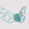 papillon1.png Download STL file Graphic Butterfly Wing • 3D printing template, 3DHAG
