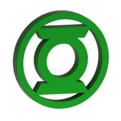 Download 3D printing files GREEN LANTERN logo, 3DHAG