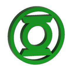 Télécharger STL Logo GREEN LANTERN, 3DHAG