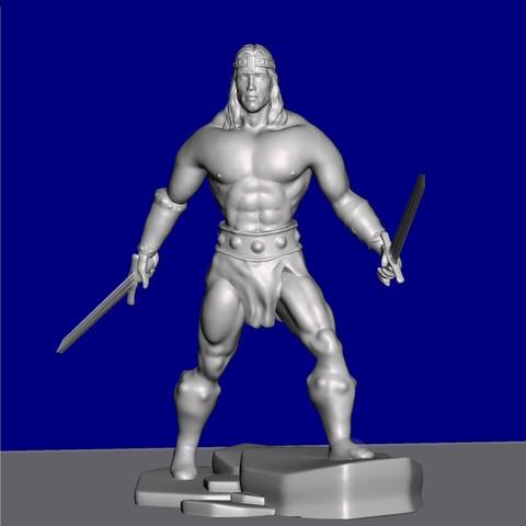 Objet 3D gratuit Figurine inspirée de Conan le barbare., serranoware