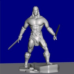 Download free 3D printer designs Figure inspired by Conan the Barbarian, serranoware