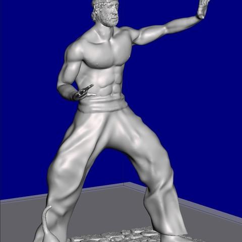 Télécharger objet 3D gratuit Figurine inspirée par Chuck Norris, serranoware