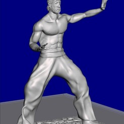 Download free 3D print files Figure Inspired by Chuck Norris, serranoware